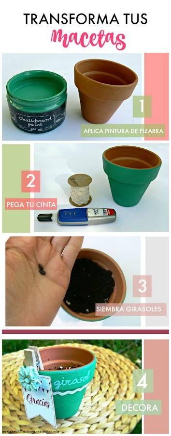 Cómo decorar macetas fácilmente