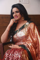 Udaya Bhanu lookssizzling in a Saree Choli at Gautam Nanda music launchi ~ Exclusive Celebrities Galleries 037.JPG