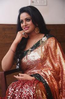 Udaya Bhanu lookssizzling in a Saree Choli at Gautam Nanda music launchi ~ Exclusive Celebrities Galleries 037.JPG