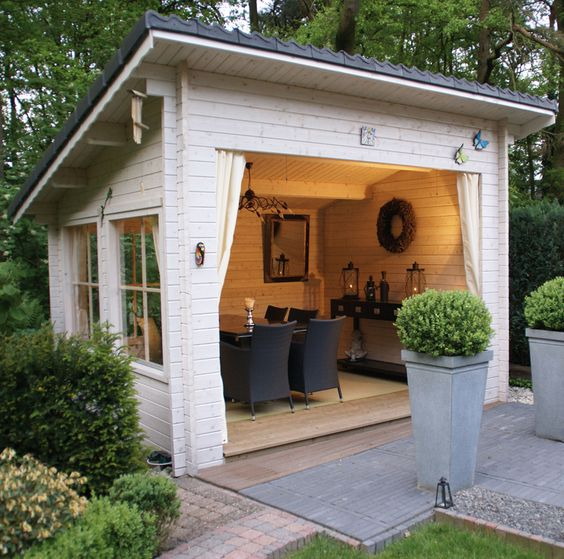12 backyard sheds you can diy or buy poppytalk for Shed into pool house