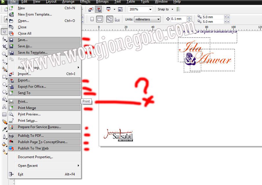 Cara Mengatasi Corel Draw Yang Tidak Bisa Menyimpan File Mengcopy Export Dan Lainnya Wong Kampung