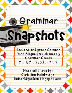 http://www.teacherspayteachers.com/Product/Grammar-Snapshots-Weekly-Assessments-and-Practice-2nd-and-3rd-CCSS-L1-L2-796224