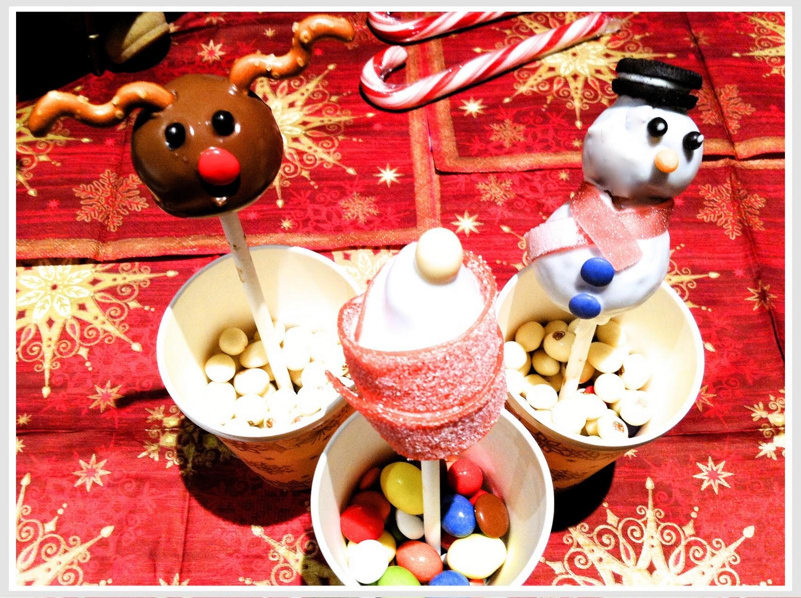Las recetas de cocina de SofyLeon: Cake pops navideños