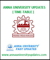 Anna University PG Nov Dec 2016 Jan 2017 TimeTable