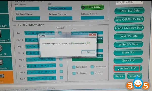 cgdi-mb-reset-w204-used-elv-12