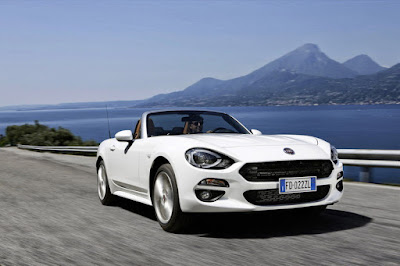 FIAT 124 Spider on The road Image