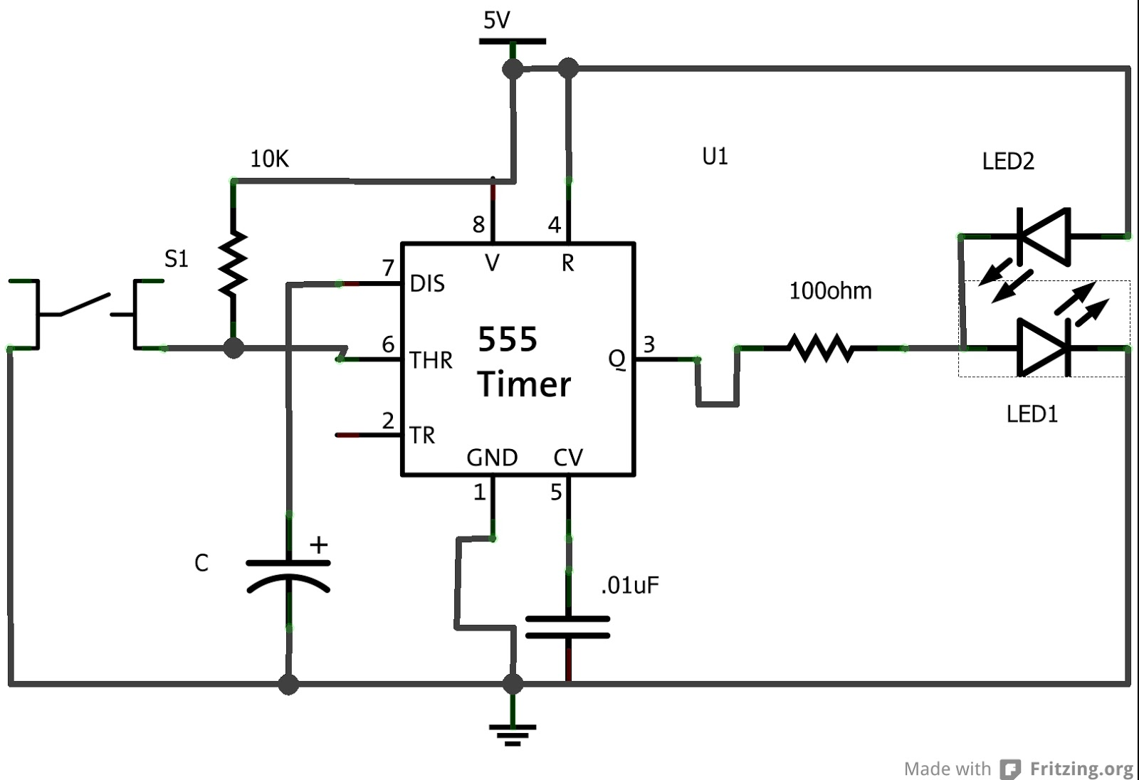 Pin Diagram 555 Ic As A Stable Circuit Diagram Figure A 555 Ic