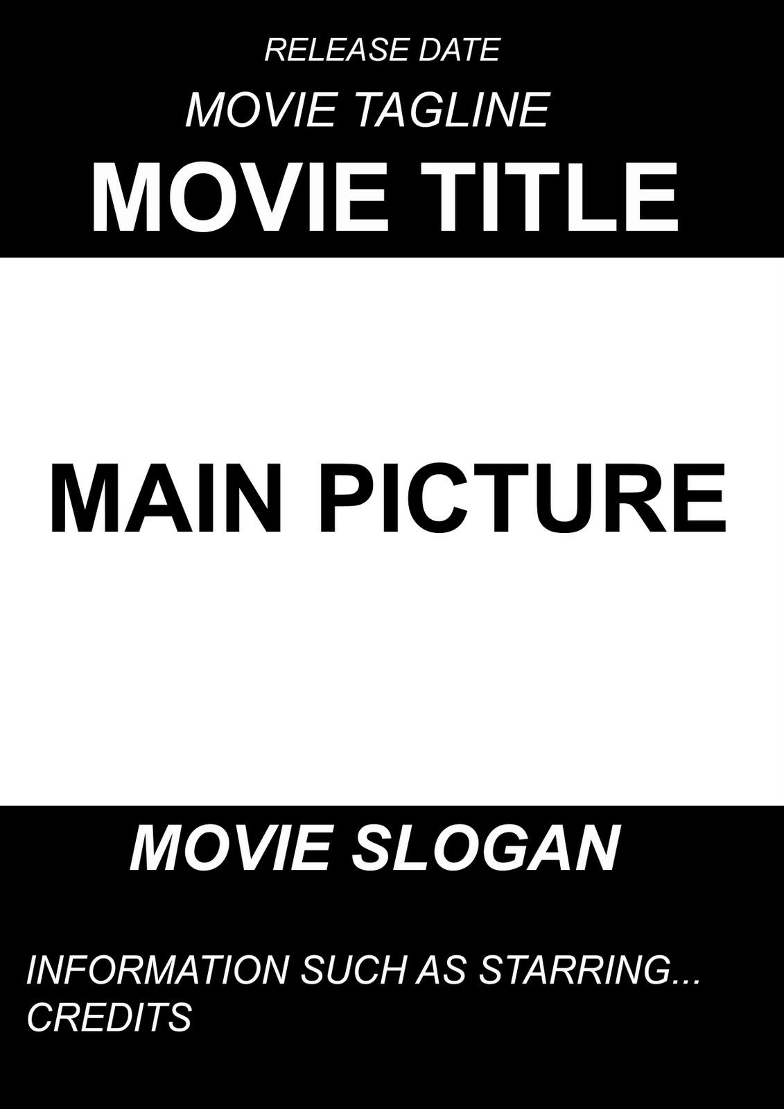 A2 Advanced Portfolio: Ancillary Project- Movie Poster ...