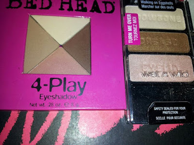 Bed Head 4-Play 'Matte Love' and Wet n Wild 'Walking on Eggshells' - www.modenmakeup.com