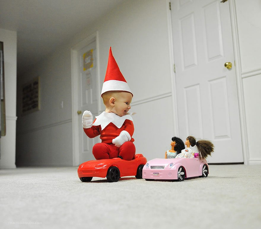 "A dad turns his baby into a real ""elf"""