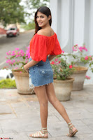 Rhea Chakraborty in Red Crop Top and Denim Shorts Spicy Pics ~  Exclusive 175.JPG