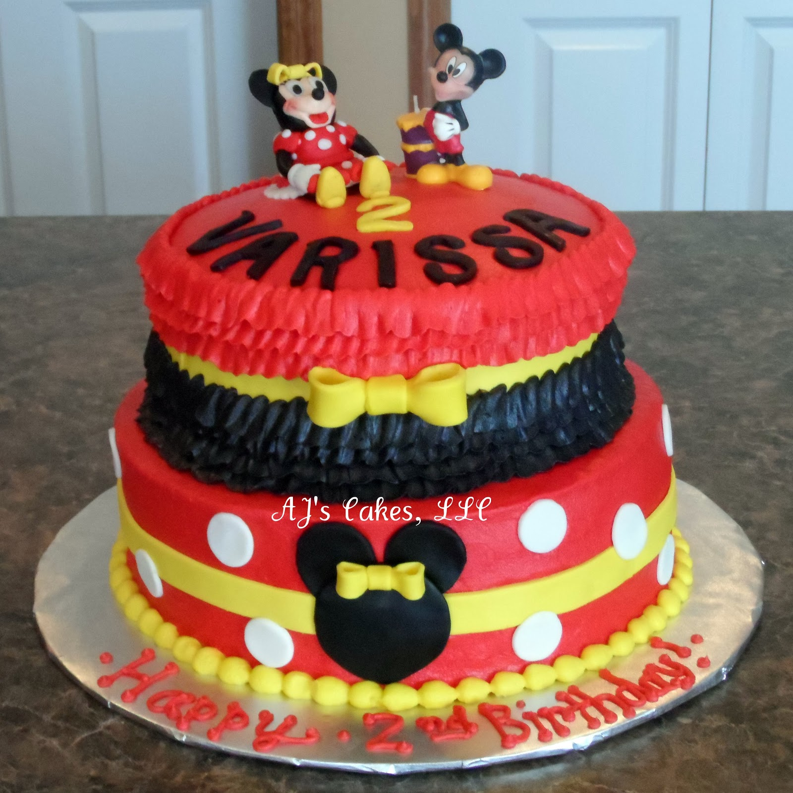 Aj S Cakes Red Ruffle Minnie Mouse Cake