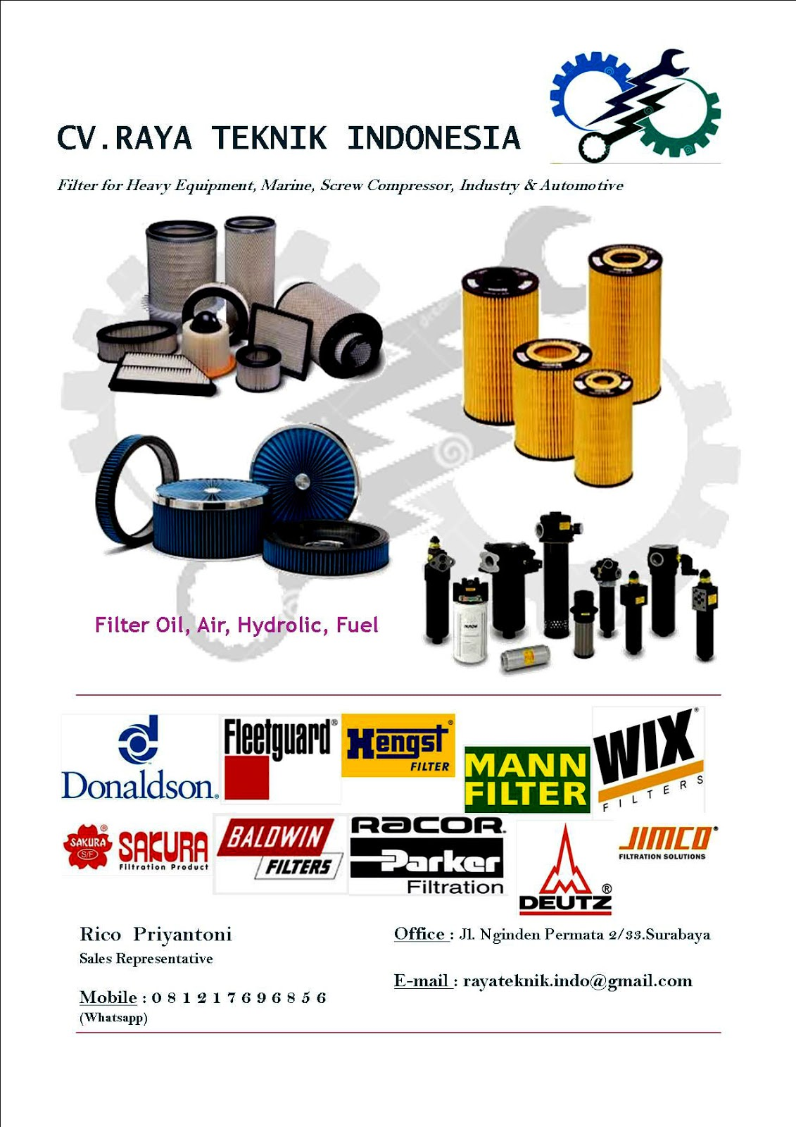 Distributor Filter Airoilfuelhydrolic Surabaya Griffin Fuel Filters