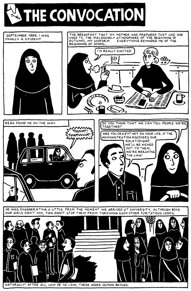 Read Chapter 15 - The Convocation, page 138, from Marjane Satrapi's Persepolis 2 - The Story of a Return