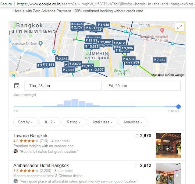 Google hotel bookings