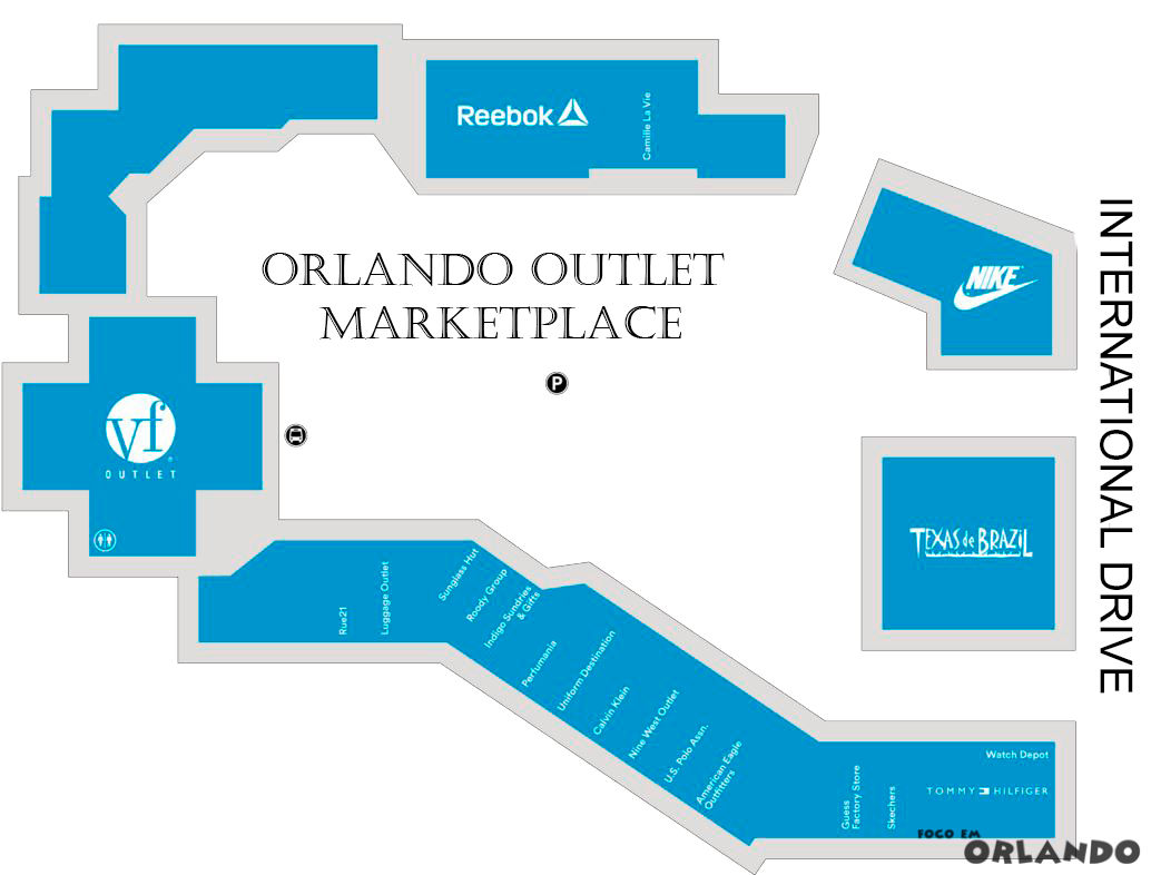 Mapa Orlando Outlets Marketplace