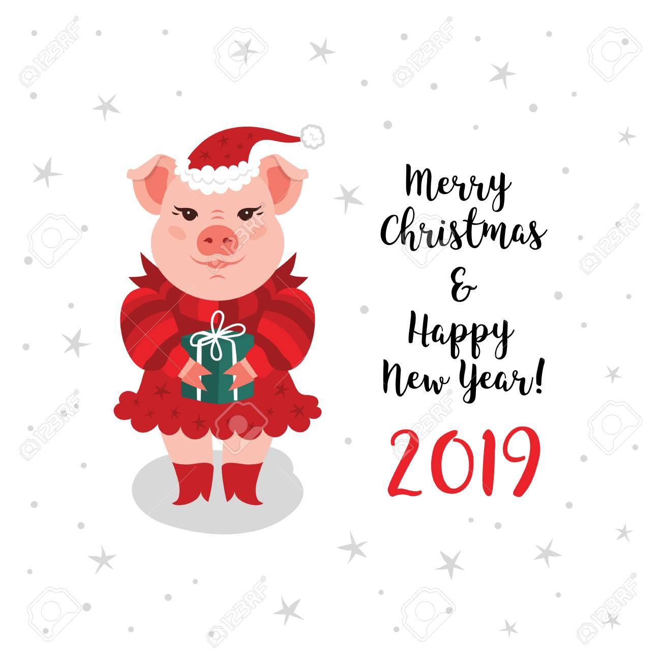 Hình ảnh chúc năm mới con lợn cùng hình ảnh hoạt hình cartoon đẹp nhất 2019