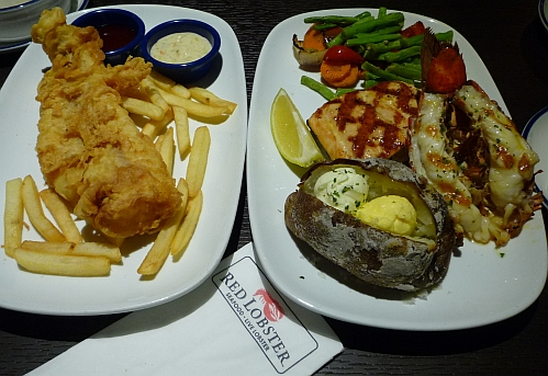 Eat to live or live to eat red lobster at intermark for Red lobster fish and chips