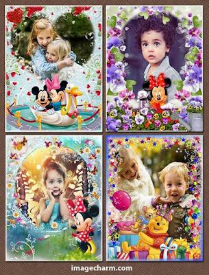 Four Digital Frame for Children Photography