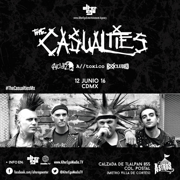 The Casualties en Carpa Astros