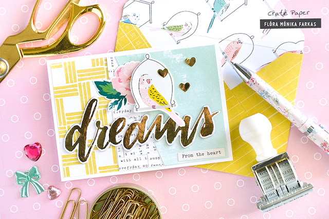 Card with matching envelope made with Crate Paper - Maggie Holmes Chasing Dream collection and We R Memory Keeper 1-2-3 Punch Board by @floramfarkas .