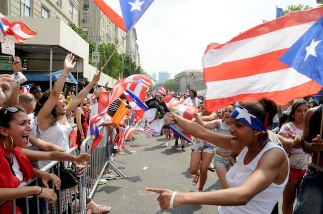 portoricains lors d'un défilé