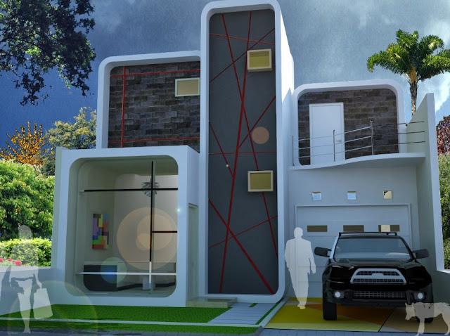 desain rumah mungil 2 lantai