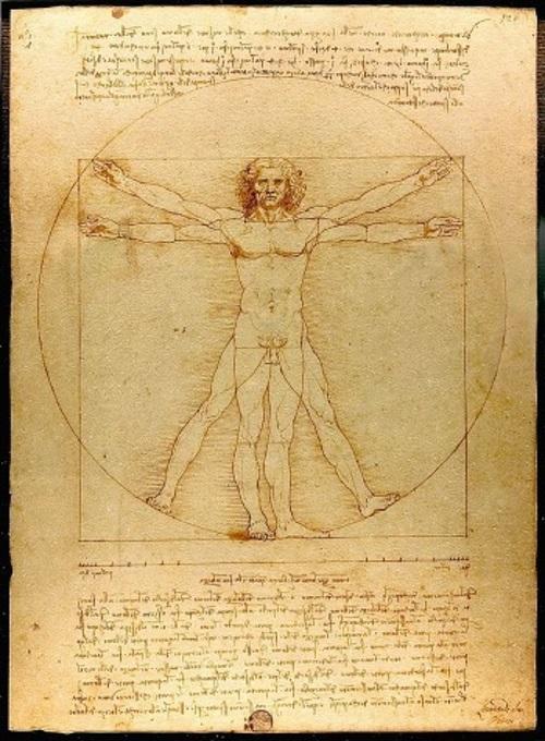 Homem vitruviano, Leonardo Davinci.