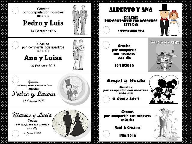 etiquetas para dar un toque personalizado a tus detalles de boda