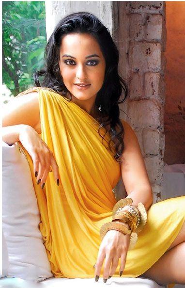Sonakshi Sinha Hot in Yellow Dress