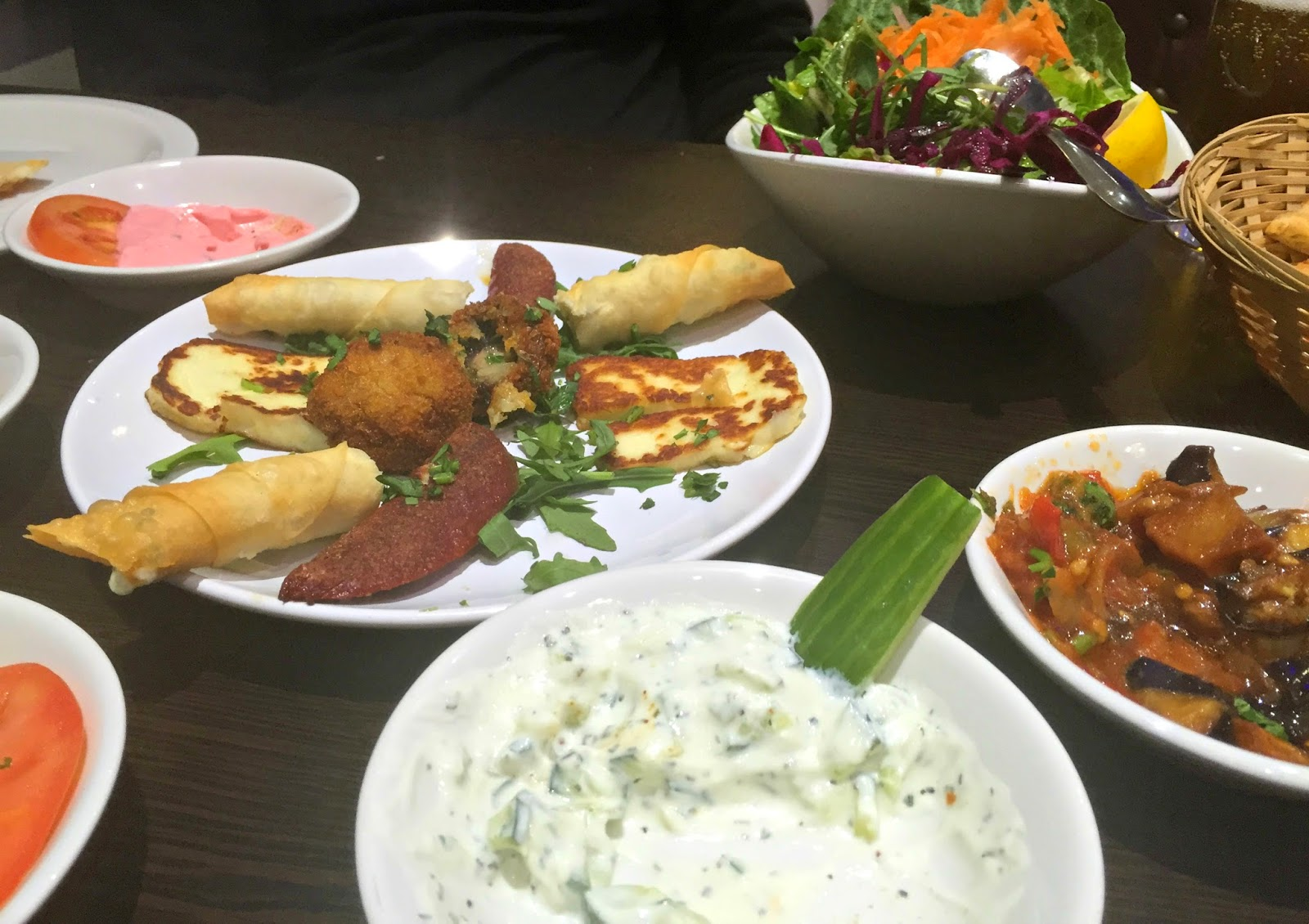 Selection of turkish tapas dishes