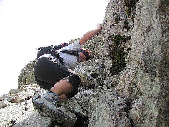 Wspinaczka na Pięciostawiańską Kopę (słow. Pfinnova kopa)