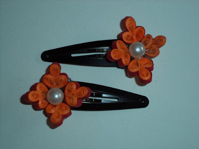 flower designs quilling paper designs hair clip accessories - quillingpaperdesigns