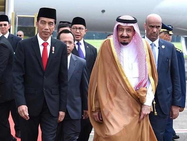Wajah Raja Salman dan Presiden Jokowi Tanpak Berseri