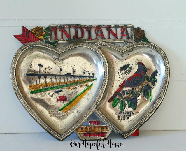 Indiana silver heart tray
