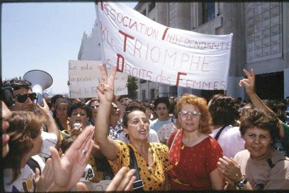 Manifestation contre le code de la famille, Algérie, 1984