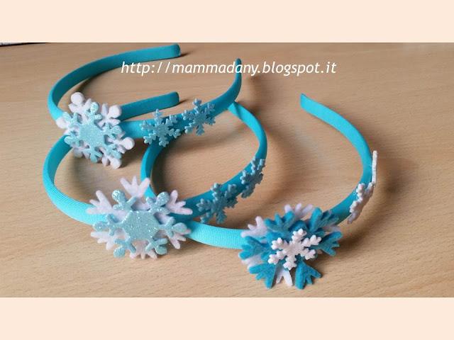 cerchietti per capelli in stile Frozen color tiffany