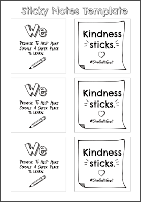 Kindness Sticks Printable Sticky Notes #ShawYouthGrant