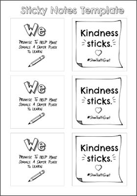 Kindness Sticks Printable Sticky Notes #ShawYouthGrant