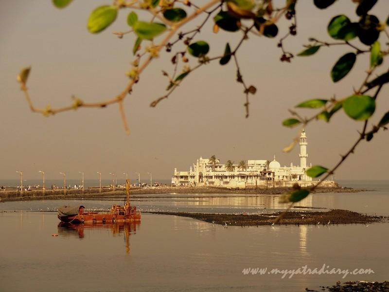 Haji Ali Dargah on an islet in Mumbai