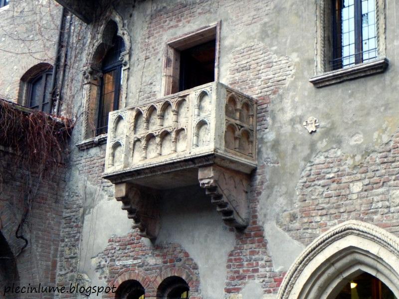 Casa Julietei din Verona si balconul declaratiilor