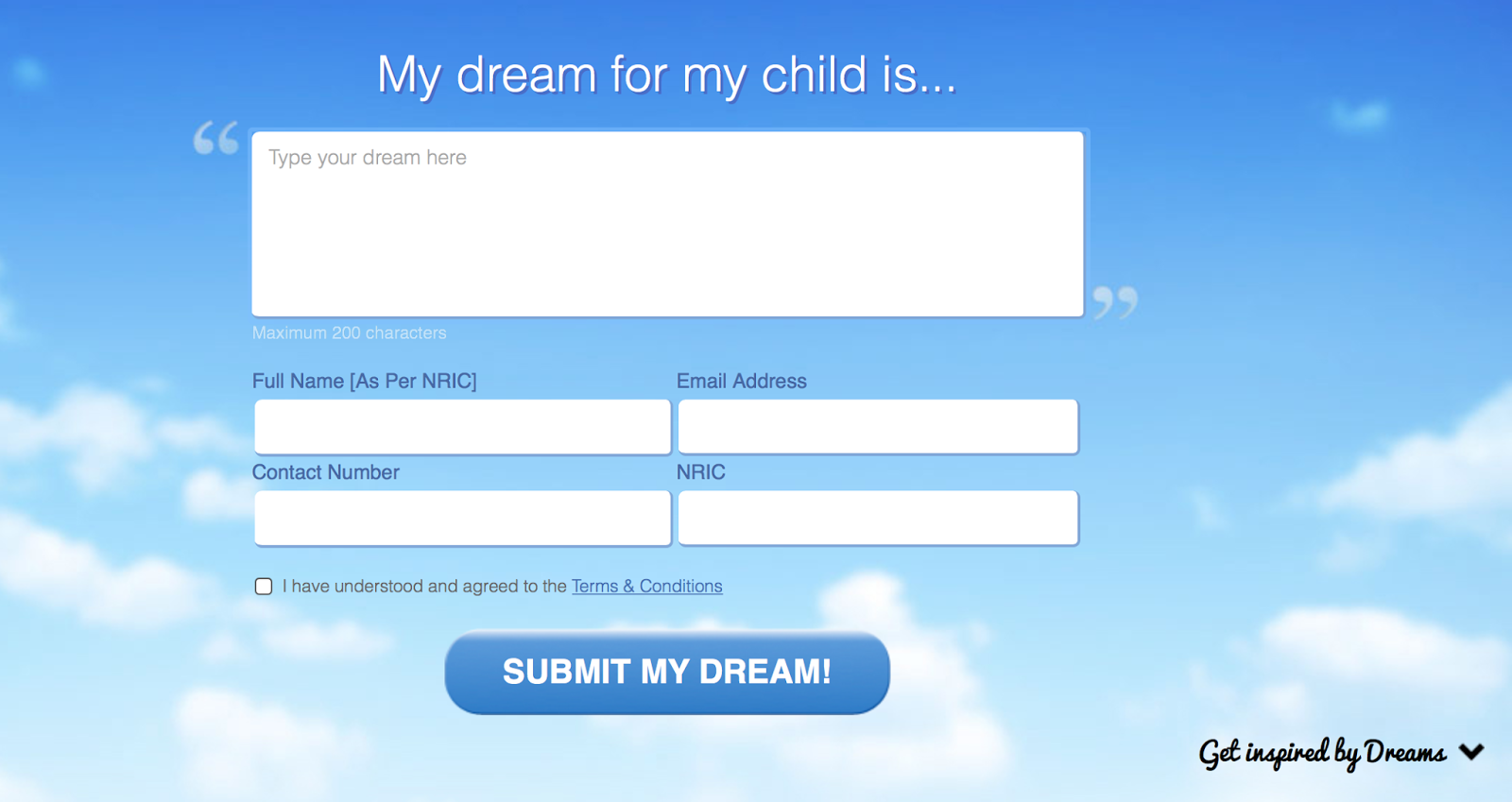 AmMetLife is having a campaign to hear what is Malaysia parents' dreams for their children.