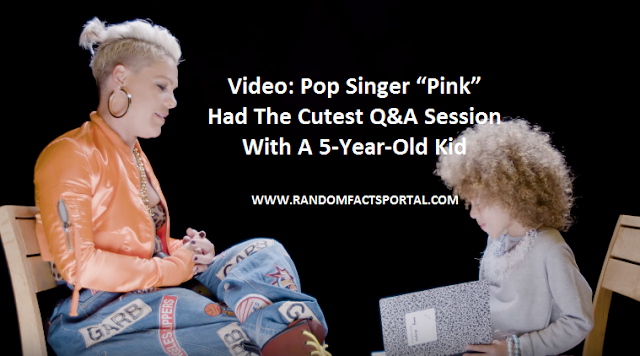 Video: Pop Singer Pink Had The Cutest Q&A Session With A 5-Year-Old Kid