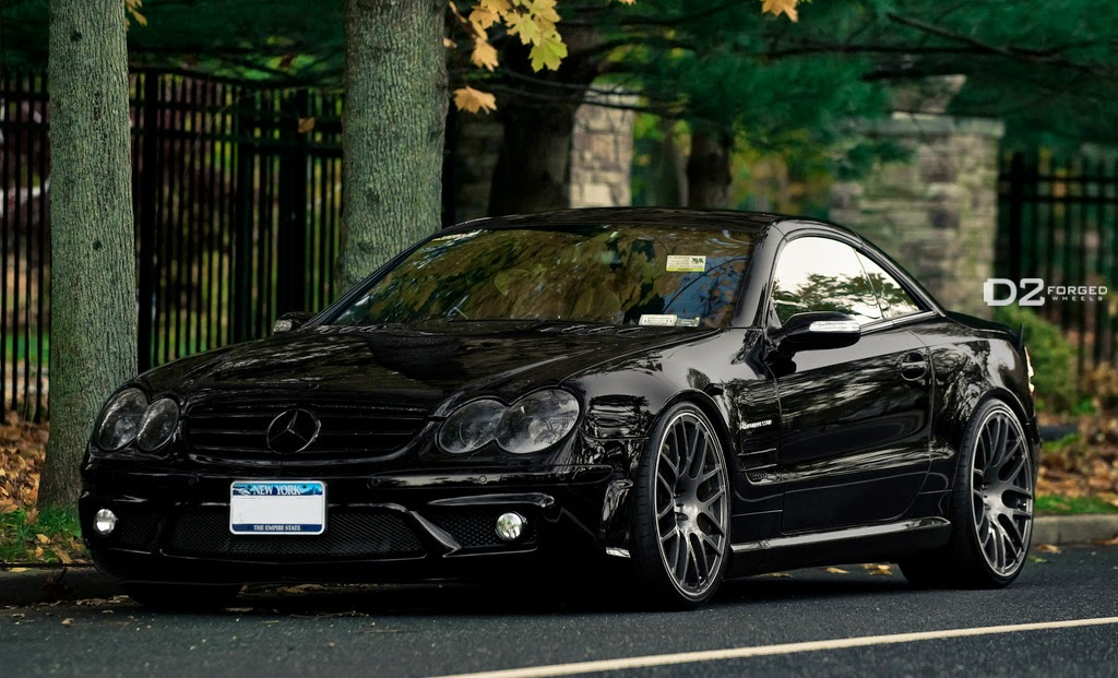 mercedes benz r230 sl55 amg on d2forged wheels benztuning. Black Bedroom Furniture Sets. Home Design Ideas