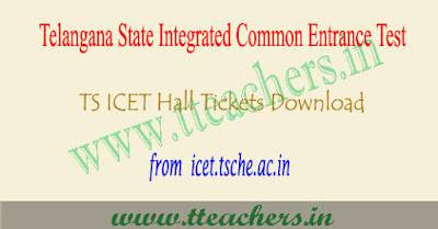 TS ICET hall ticket 2019, Telangana icet results download