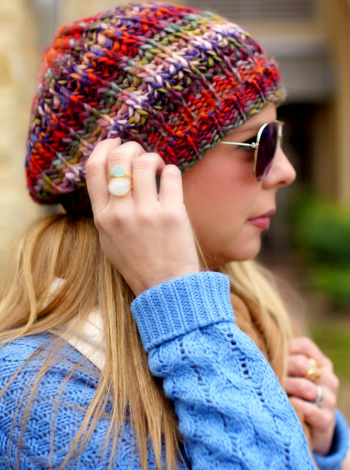 colorful crochet knit beanie for winter