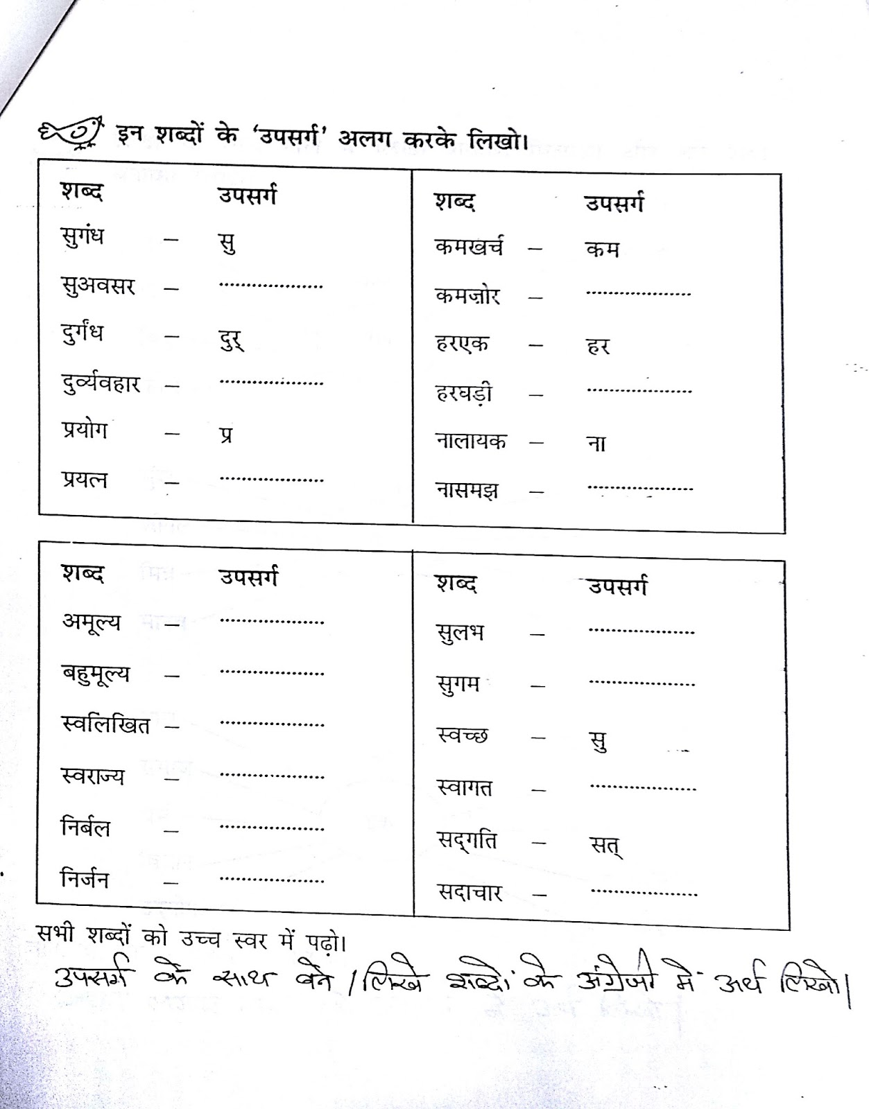 Worksheet In Hindi For Ukg