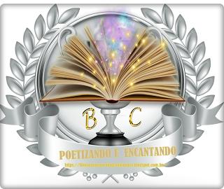 Selo de participação no Poetizando e encantando.