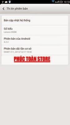 Tiếng Việt Lenovo S938t 4.2.2 alt