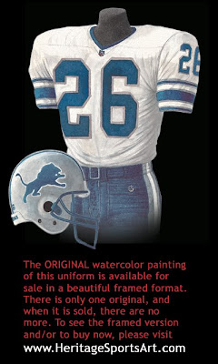 Detroit Lions 1998 uniform